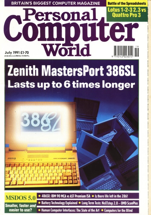 Scan of Document: Personal Computer World - July 1991