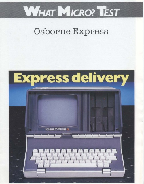 Scan of Document: Osborne 4 Express