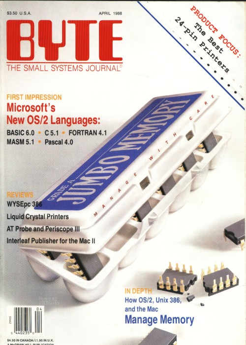 Scan of Document: Byte April 1988