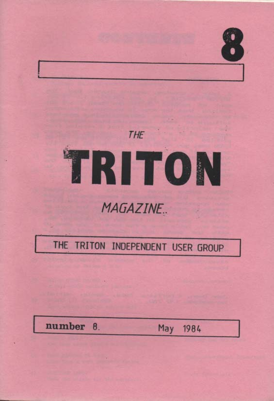 Scan of Document: Triton Magazine No: 8 May 1984