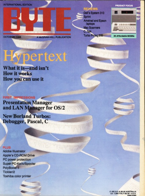 Scan of Document: Byte October 1988