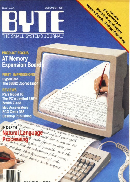 Scan of Document: Byte December 1987
