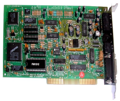 Scan of Document: Sound Blaster CT1350B