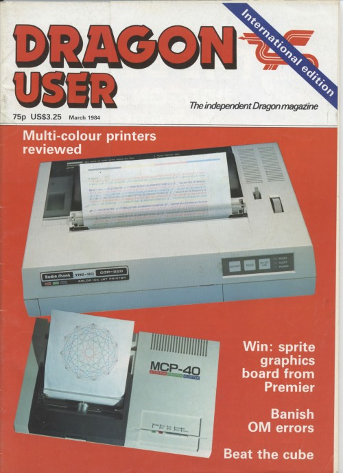 Scan of Document: Dragon User - March 1984