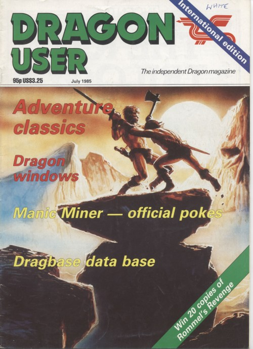Scan of Document: Dragon User - July 1985