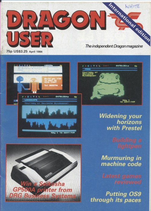 Scan of Document: Dragon User - April 1984