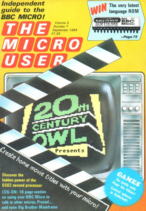 Scan of Document: The Micro User - September 1984 - Vol 2 No 7