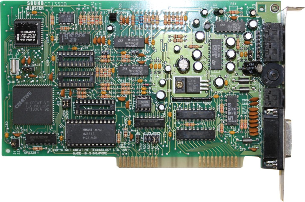 Scan of Document: Sound Blaster CT1350B (late model)