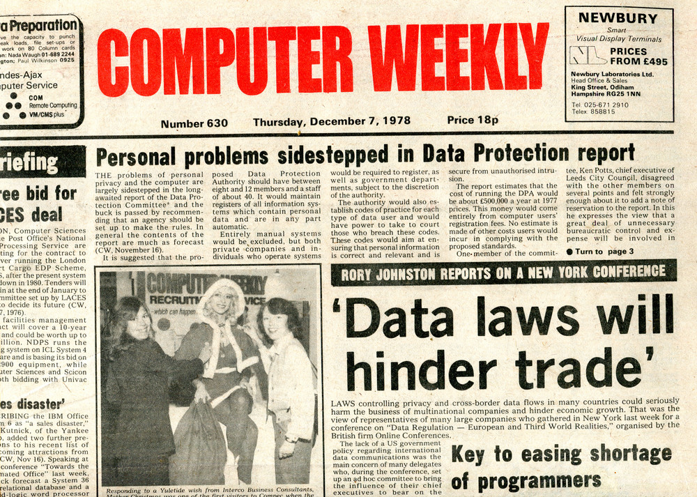 Scan of Document: Computer Weekly 630
