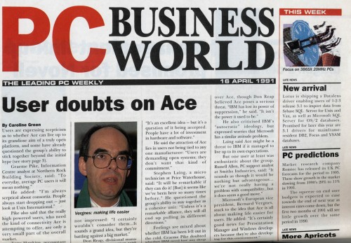 Scan of Document: PC Business World  16 April 1991