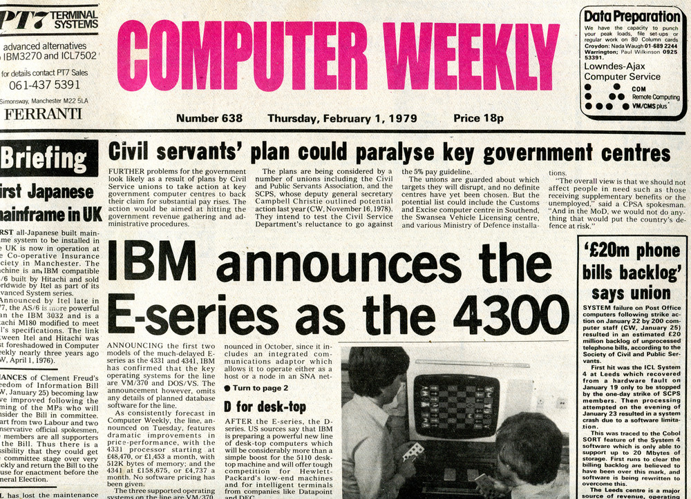 Scan of Document: Computer Weekly 639