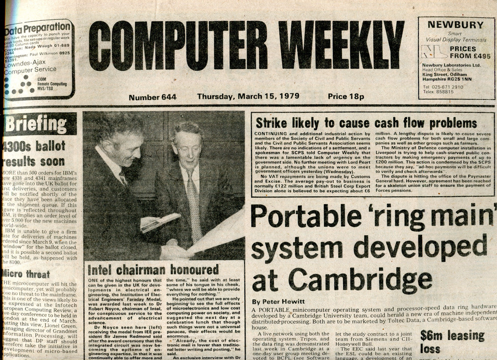 Scan of Document: Computer Weekly 644