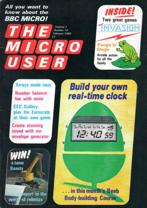 Scan of Document: The Micro User - February 1984 - Vol 1 No 12