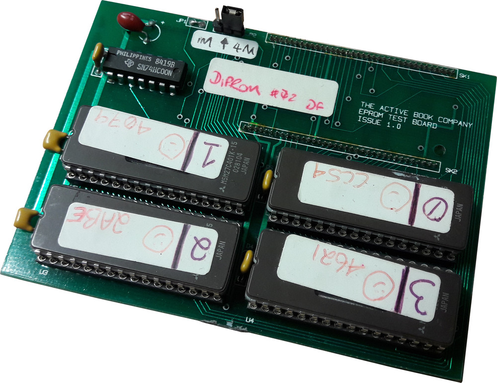 Scan of Document: Active Book Eprom Test Board
