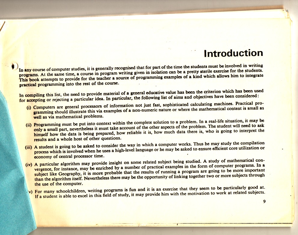 Scan of Document: Hatfield Polytechnic - Computing Problems Booklet
