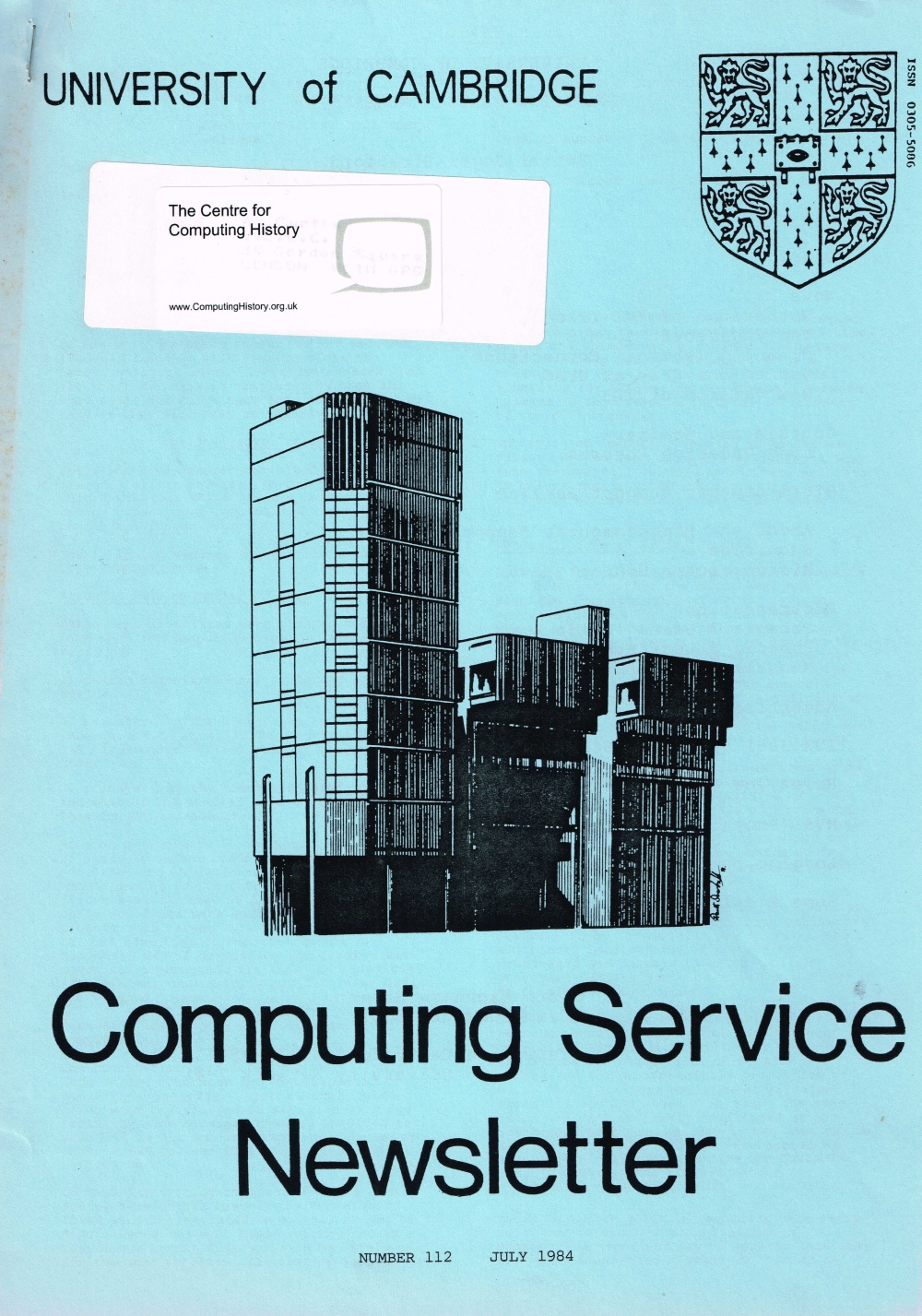 Article: University of Cambridge Computing Service May 1984 Newsletter 112