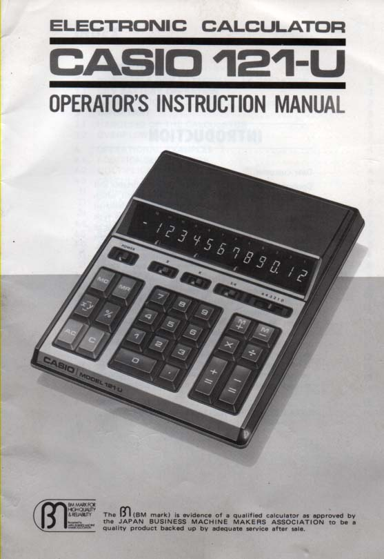 casio instruction manuals