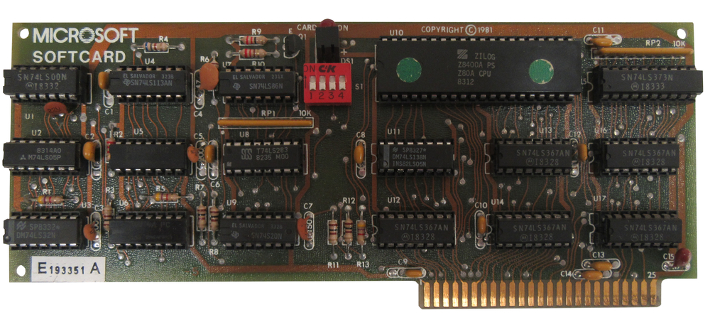 Scan of Document: Microsoft Z80 Softcard