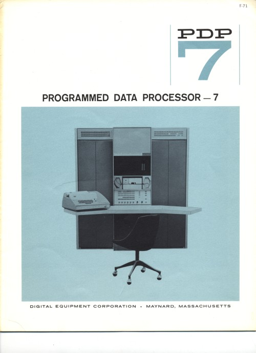 Scan of Document: Digital Equipment Corporation PDP-7 Programmed Data Processor - 7 Brochure