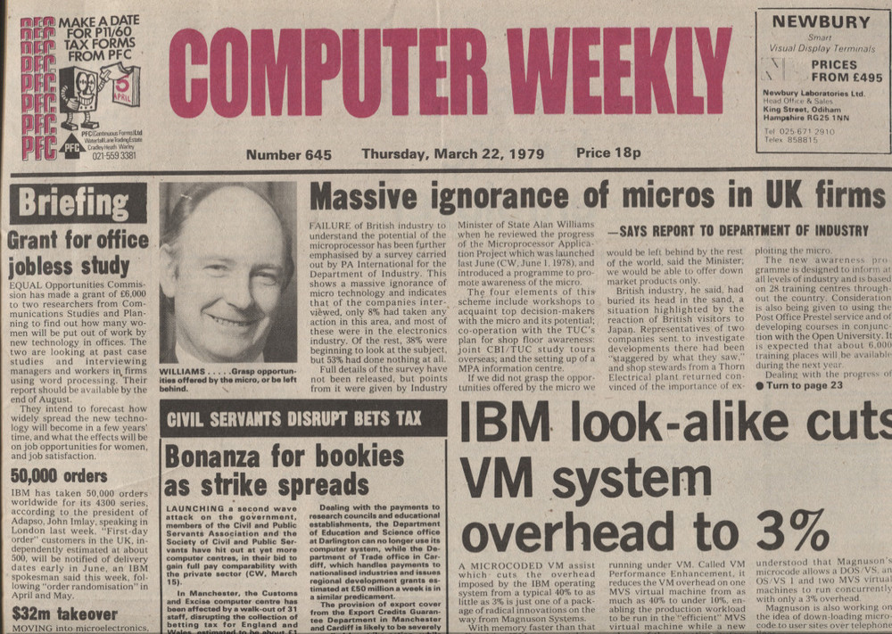 Scan of Document: Computer Weekly 645