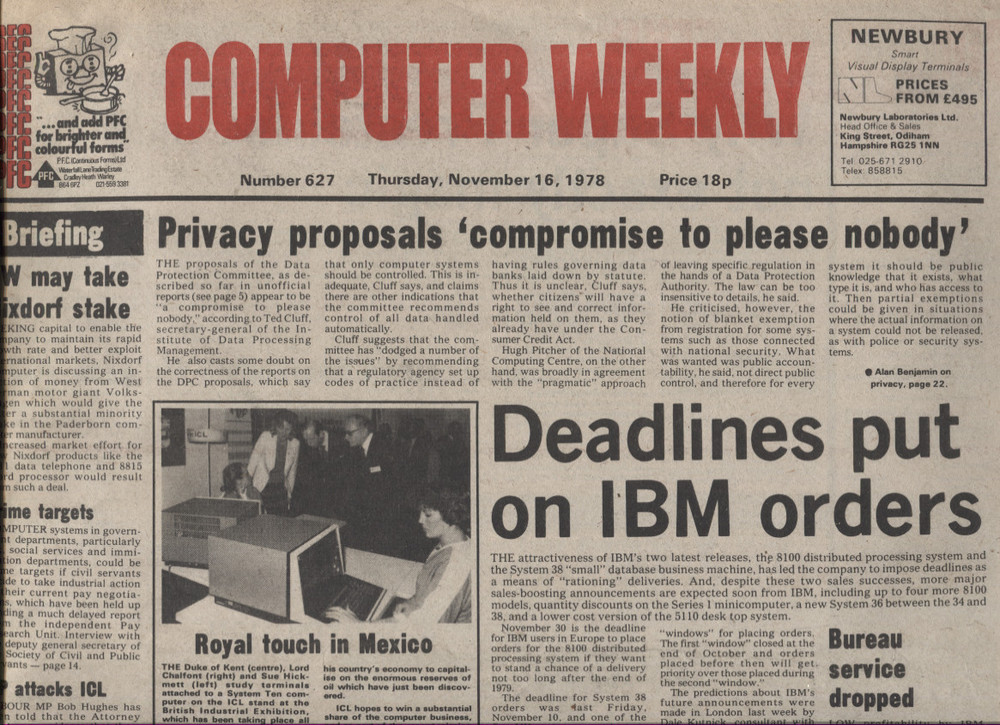Scan of Document: Computer Weekly 627