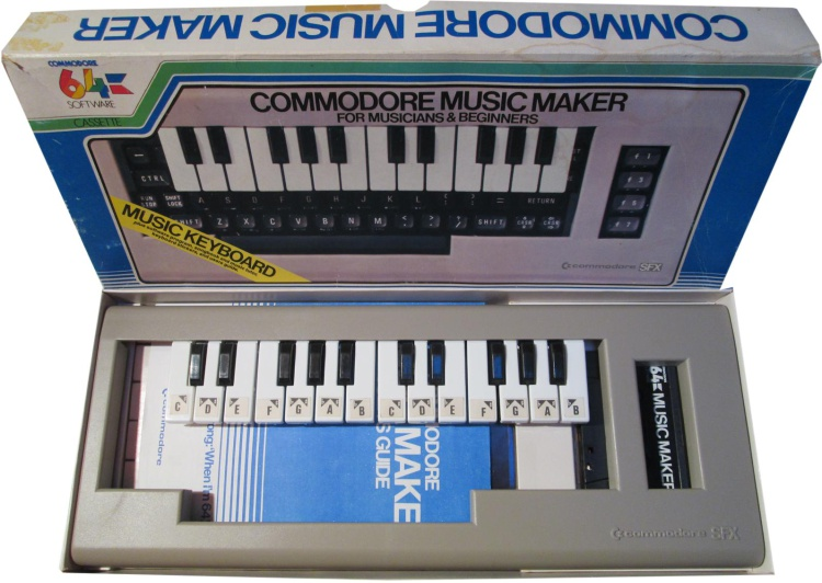 Scan of Document: Commodore Music Maker keyboard