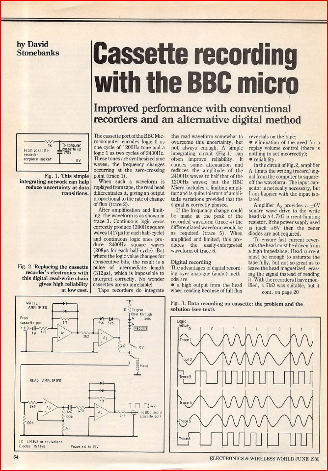 Article: Article - Cassette Recording with the BBC Micro