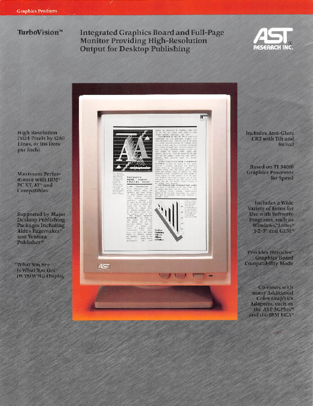 Article: AST Research Turbovision Promotional Sheet