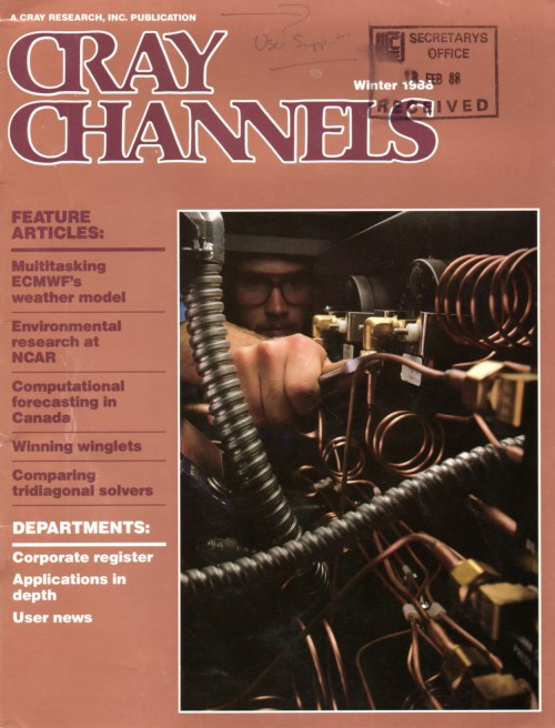 Scan of Document: Cray Channels - Vol 9 No 4 - Winter 1988