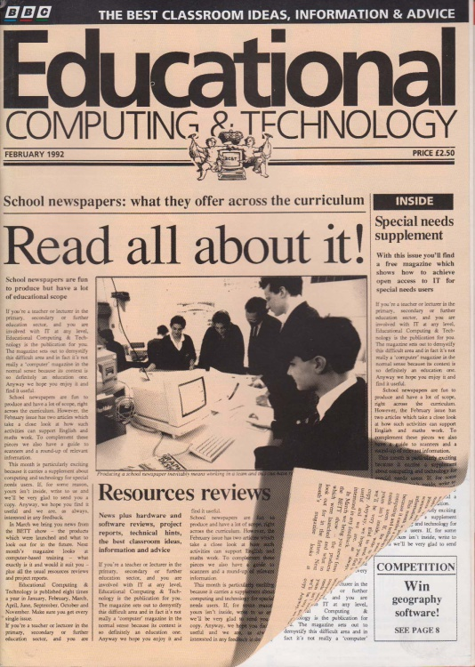 Scan of Document: Educational Computing and Technology - February 1992