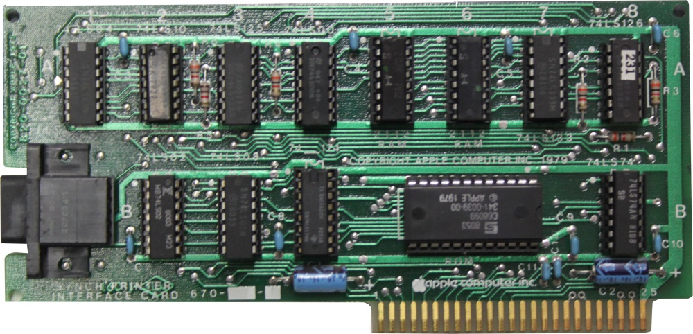 Scan of Document: Apple Async Printer Interface Card