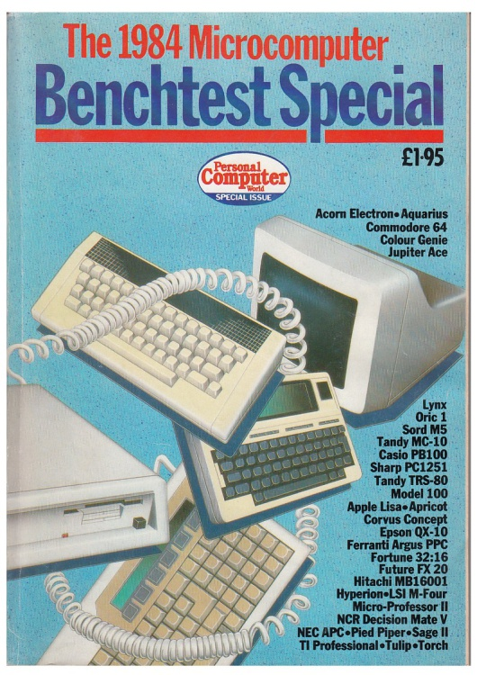 Scan of Document: Personal Computer World - 1984 Benchtest Special