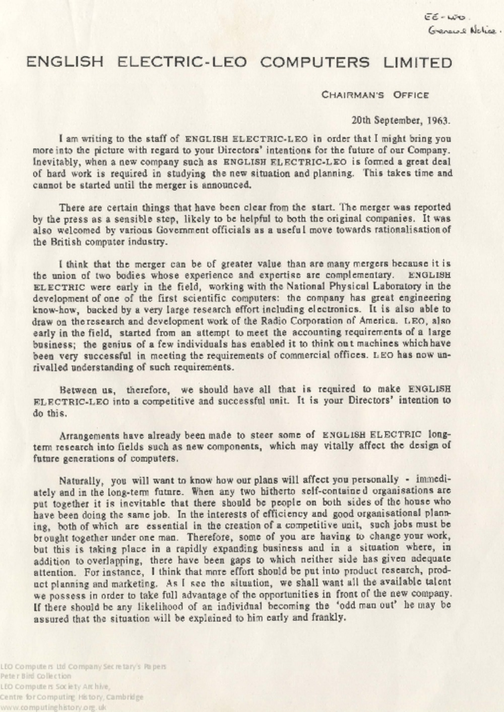Article: 64321 EEC merger papers, part 3 (September 1963-February 1964)