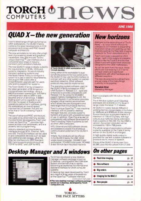 Scan of Document: Torch Computers News June 1988