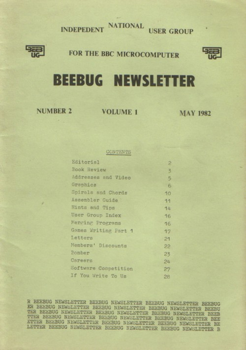 Article: Beebug Newsletter - Volume 1, Number 2 - May 1982