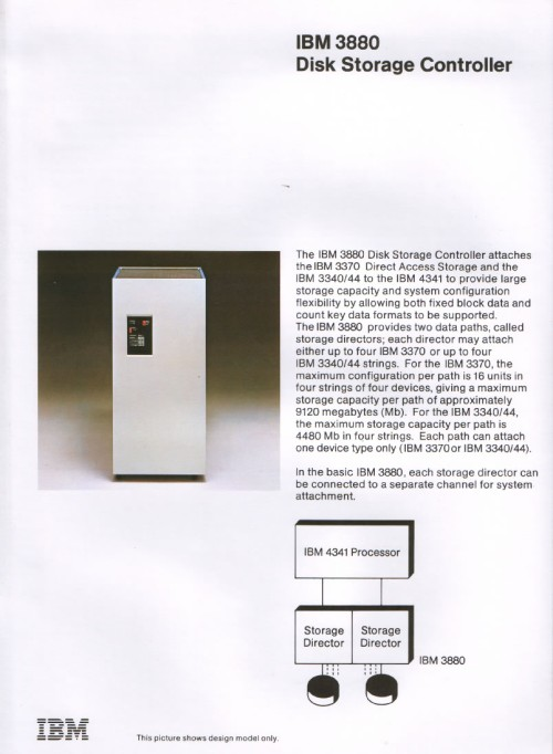 Scan of Document: IBM 3880 Disk Storage Controller