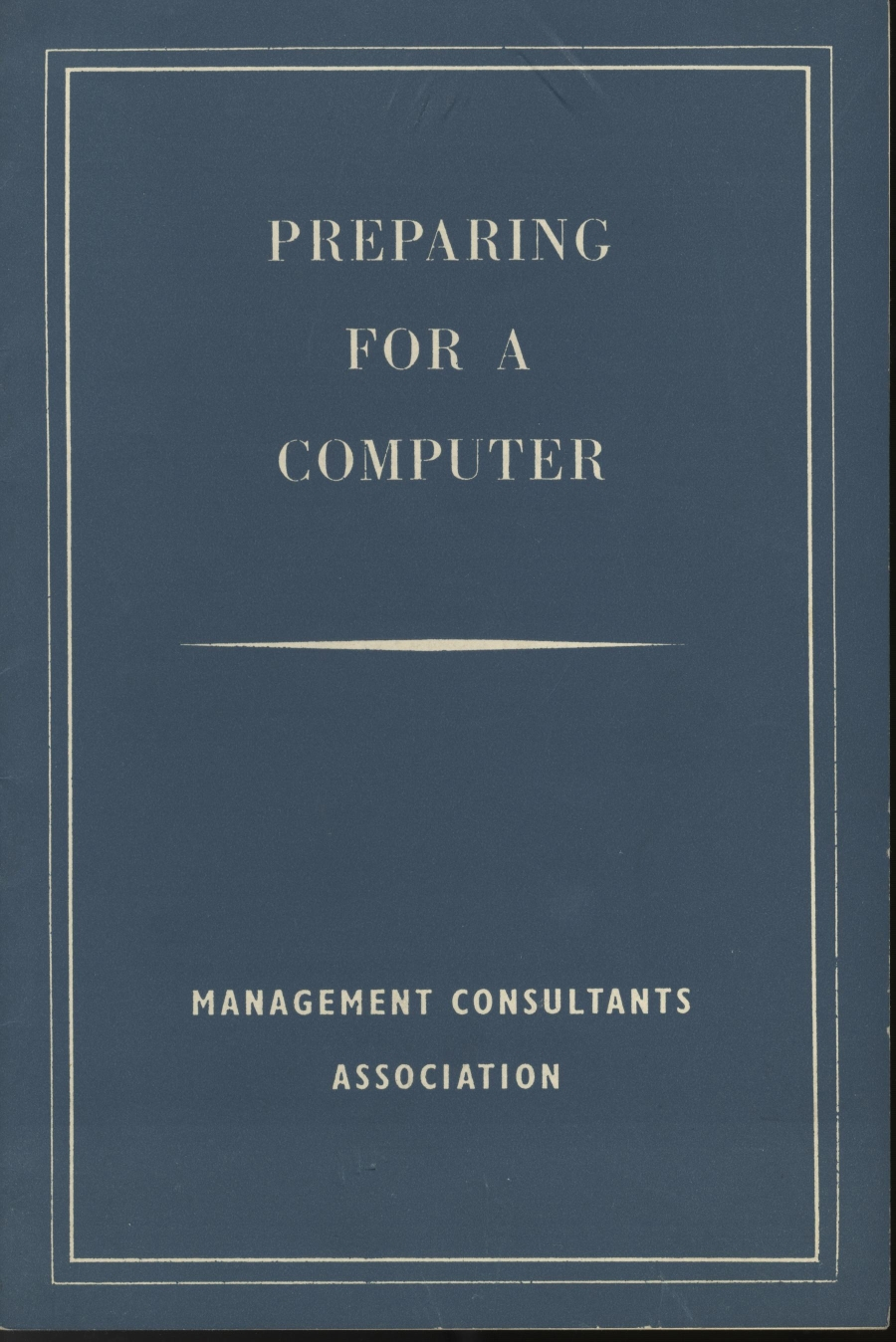Article: 54626 Preparing for a Computer