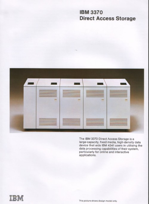 Scan of Document: IBM 3370 Direct Access Storage