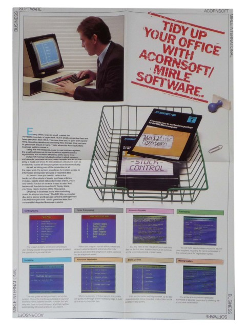 Scan of Document: Acornsoft Mirle office software