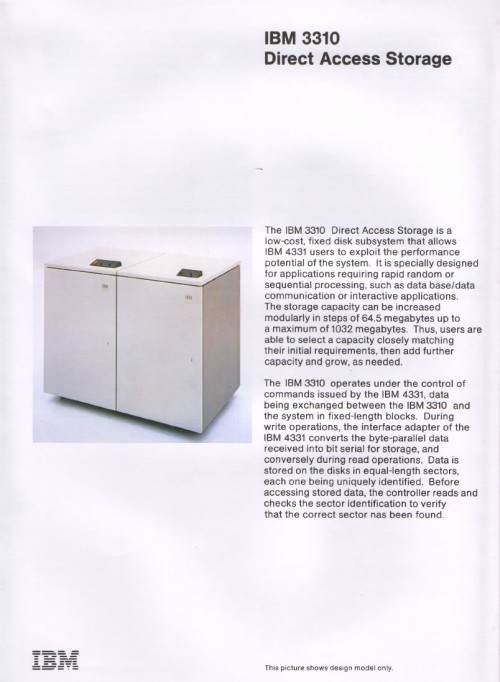 Scan of Document: IBM 3310 Direct Access Storage