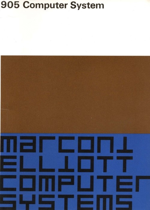 Scan of Document: Marconi Elliott 905 Computer System - Documents