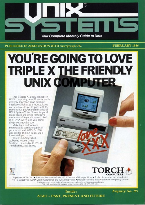 Scan of Document: Unix Systems February 1986