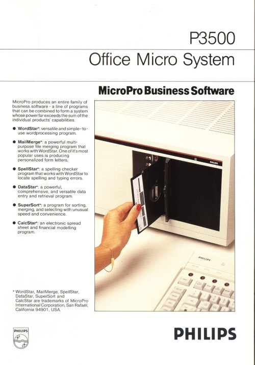 Scan of Document: Philips P3500 MicroPro Business Software