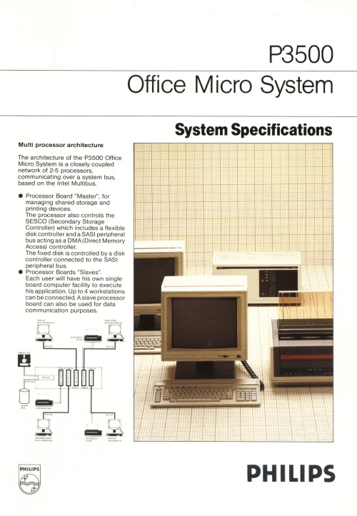 Scan of Document: Philips P3500 System Specifications