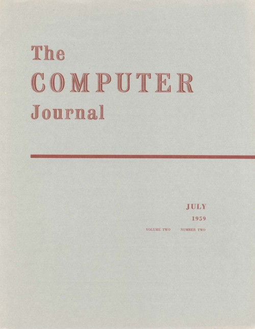 Scan of Document: The Computer Journal July 1959
