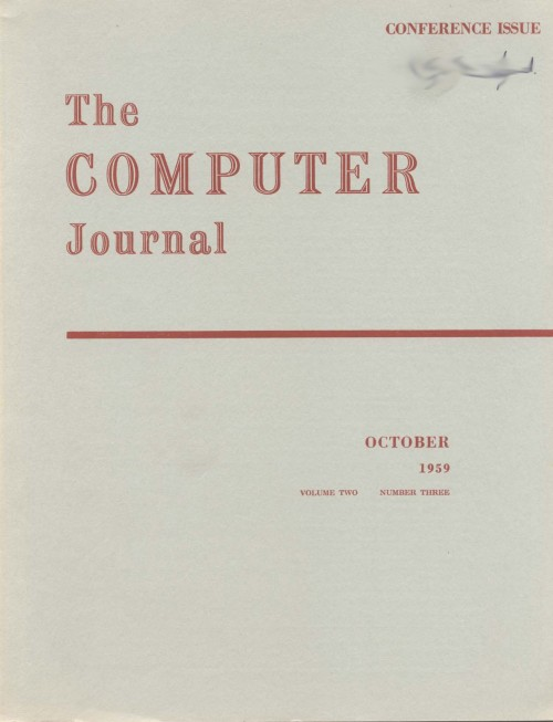 Scan of Document: The Computer Journal October 1959