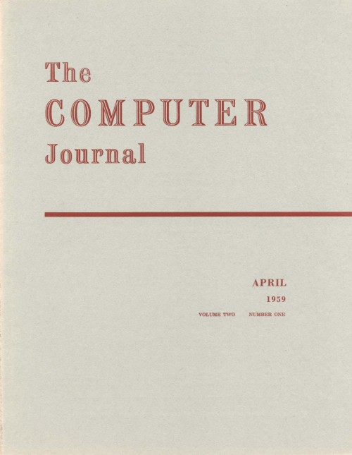 Scan of Document: The Computer Journal April 1959