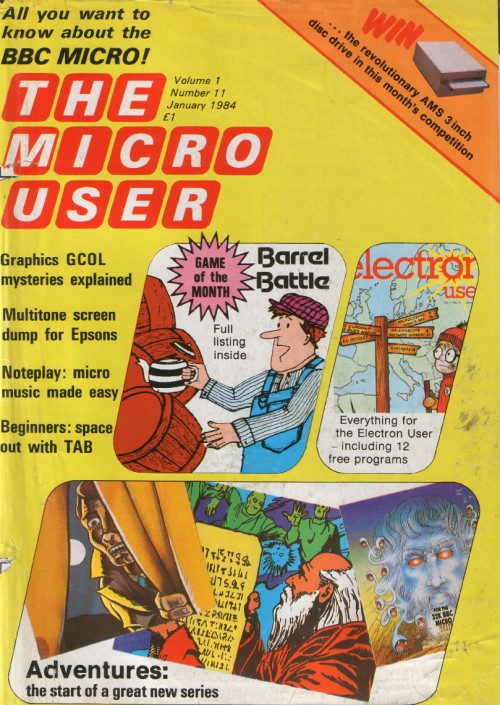Scan of Document: The Micro User - January 1984 - Vol 1 No 11