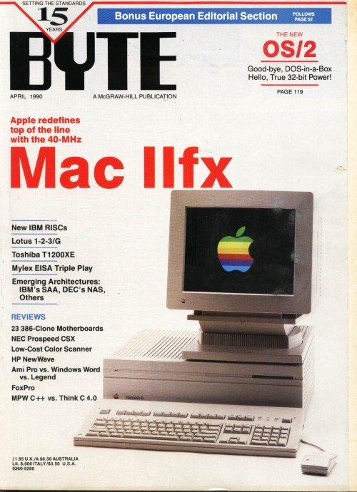 Scan of Document: Byte April 1990