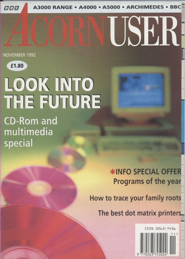 Scan of Document: Acorn User - November 1992